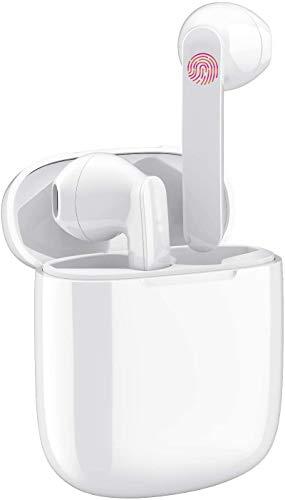 Auricolari Bluetooth 5.0, Cuffie Bluetooth Auricolari Wireless Stereo Senza Fili Sportivi in Ear IPX5 con Custodia da Ricarica Microfono Leggeri Hi-Fi Cuffie In-Ear Android/Phone/Samsung
