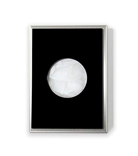 Hygienebeutelspender aus Edelstahl matt gebürstet und Acryl (schwarz) - hochwertige Ausführung