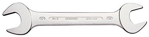 GEDORE Doppelmaulschlüssel 24 x 27 mm, Hochwertiger Vanadium-Stahl, Blendfreie Optik, Nach DIN 3110, Silber