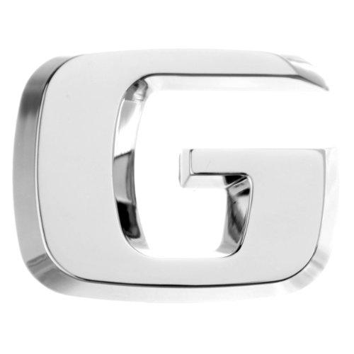 Luxbling Auto Chrom 3D Buchstabe - Silber - G