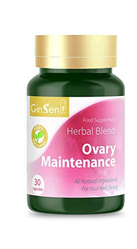 GinSen Ovary Maintenance Helps with PCOS, Ovulation, Eggs Quality & Quantity, Conceive Naturally, Natural Pregnant, Natural Supplement, Chinese Medicine, Made in UK (60 Capsules (30x2))