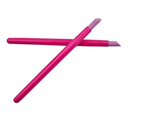 Asentechuk® Lot de 5 bâtonnets à cuticules Quartz Exfoliant en céramique , rose rouge, 13,5 cm
