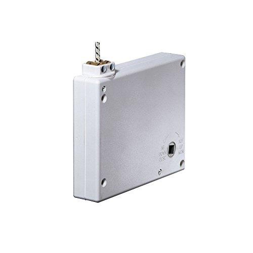 JAROLIFT Mini Getriebe Kurbelwickler für Schnur, weiss/inkl. 5m Schnur (203603)