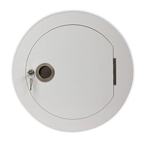 Wäscheabwurf Einwurftür, rund, zusammenklappbar, Weiß, für Durchmesser: 300mm