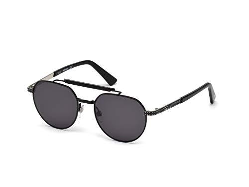 Diesel DL0239-01A-52 Gafas de sol, Negro (Shiny Black/Smoke), 52.0 para Hombre