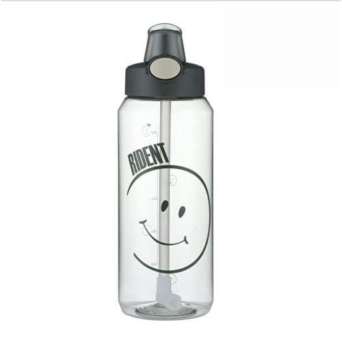 YIXINYOUPIN Botella de agua, taza de agua deportiva, botella de agua de gran capacidad 1200 ml, taza de plástico no tóxico Tritan sin Bpa, bicicleta, correr, ciclismo, gimnasio verde