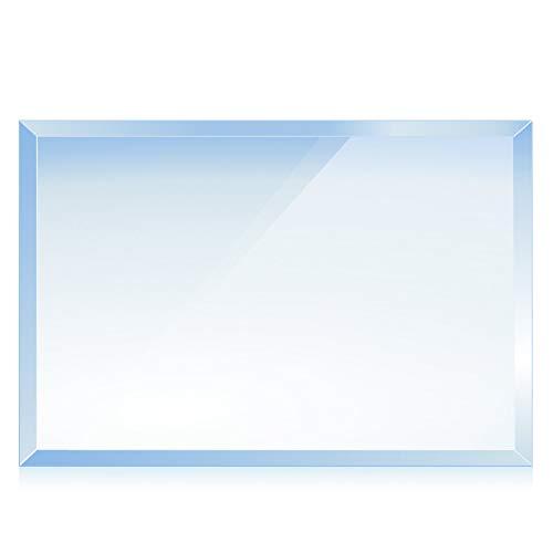 bijon® Funkenschutz-Platte mit Facettenschliff | Glasplatte Kaminofen | Kaminschutz mit ESG Sicherheitsglas | Kamin Zubehör | Kamin Glasplatte | Rechteck 80 x 90 cm | 6mm