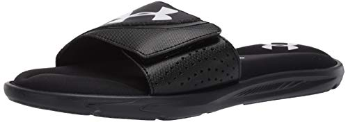 Under Armour Men's Ignite VI SL Slide Sandal, Black (003)/Black, 11 M US