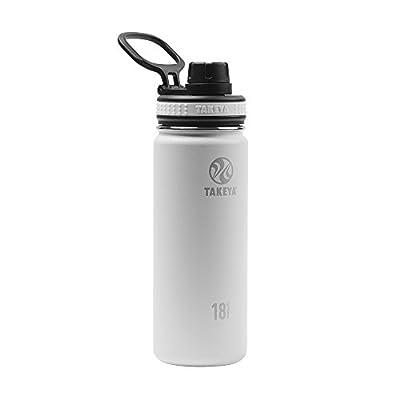Takeya White Originals Vacuum-Insulated Stainless-Steel Water Bottle, 18oz