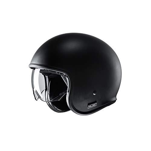 Motorradhelm HJC V30 SEMI MAT Schwarz/SEMI FLAT BLACK, Schwarz, XL