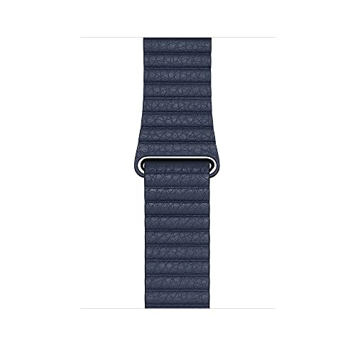 Apple Watch (44mm) Lederarmband mit Schlaufe, Taucherblau - Large
