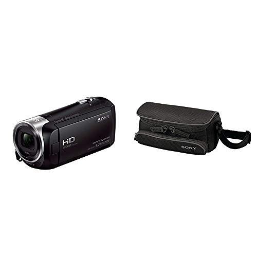 Sony HDR-CX405 Full HD Camcorder (30-fach opt. Zoom, 60x Klarbild-Zoom, Weitwinkel mit 26,8 mm) mit Intelligent Active Mode Verwacklungsarme Aufnahmen schwarz & LCSU5 Tasche für Handycam schwarz