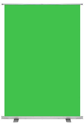 KHOMO GEAR Green Screen Grüner Hintergrund mit Ständer 100 x 200 cm Hochziehen Tragbare Foto- und Video-Studio Chroma Key - Grün