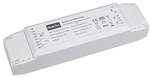 HuaTec LED Trafo 75W 12V DALI 1-10V Taster (PUSH) Dimmbar Multifunktion LED Netzteil Treiber Driver Transformator