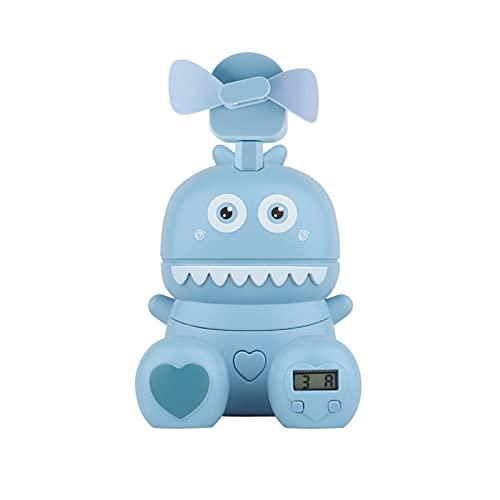 LJJOO Ventilador personal recargable de USB, ventilador portátil Mini, ventilador de vigilancia eléctrica ultrarrápida, ventilador de bolsillo, adecuado para el hogar, oficina, viajes al aire libre Ve