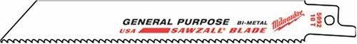 Milwaukee 48-00-5184 - Juego de 2 cuchillas para cortar metal (5 unidades, 6 x 18 TPI)