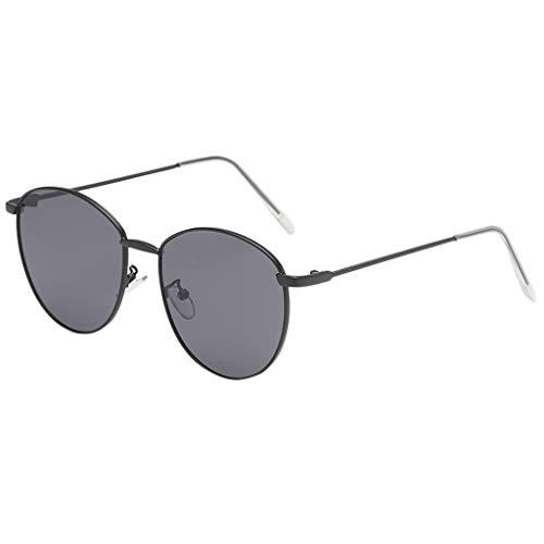 SANFASHION Damen Herren Sonnenbrille,Mode Unregelmäßige Form Brille Vintage Retro-Stil,Blaulicht UV Schutzbrille