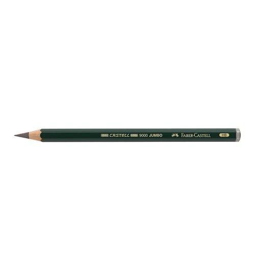 Faber-Castell 119300 - Bleistift Castell 9000 Jumbo, Härtegrad HB