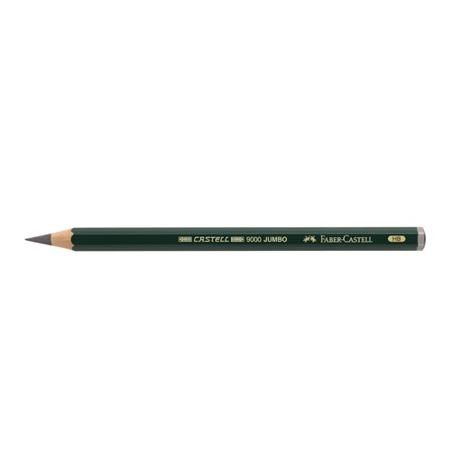Faber-Castell Supreme Artist Quality Castell 9000 Jumbo Graphite Single Pencil, with Extra Thick HB 5.3mm Lead