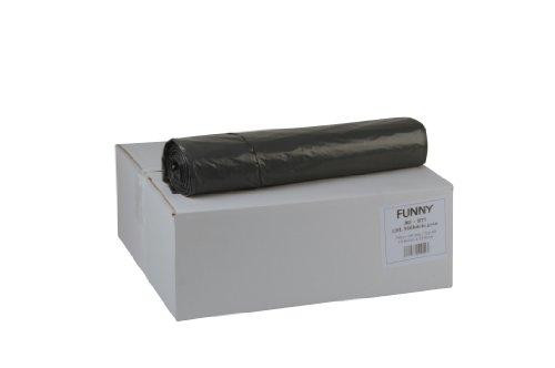 Funny Sacs Poubelle en PEBD Type 60 700 x 1100 mm/Extra/env. 120 litres (1 lot de 250 sacs) Gris