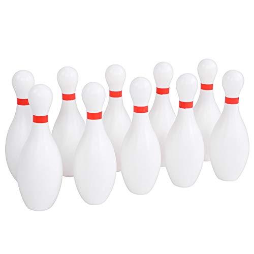 FOKH Juego de Bolos Grandes para niños, Juego de Bolos de Bolos de 10 cm de diámetro, Bolos de plástico, Juguetes de Bolos, para Juegos de Patio Interior al Aire Libre