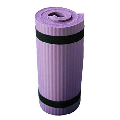 BANLV Colchoneta de Yoga Pilates Espesa el Equipo de Ejercicio con colchoneta de Entrenamiento Antideslizante de 15 mm Violeta