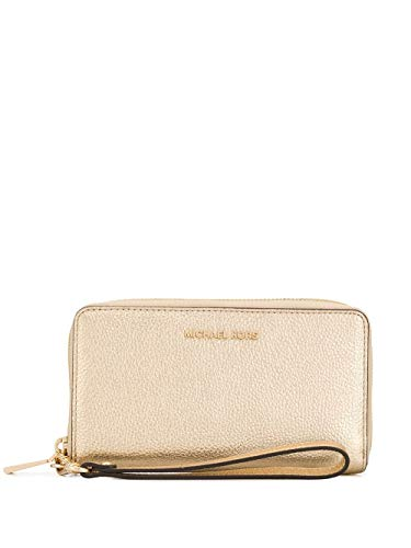 Luxury Fashion | Michael Kors Dames 34H9MM9E3M740 Goud Leer Portemonnees | Lente-zomer 20