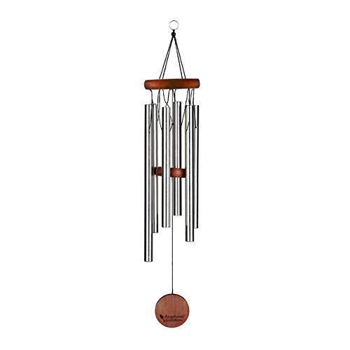 Anytime Garden Beautiful Wind Chimes - Tuned 22' Wood Windchimes Deliver Rich, Full, Relaxing Tones - Best Large Wooden Wind Chime for Outdoor Patio