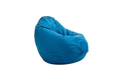Bruni Sitzsack Classico L in Blau – XL Sitzsack mit Innensack zum Lesen, Abnehmbarer Bezug, lebensmittelechte EPS-Perlen als Bean-Bag-Füllung, großer Sitzsack aus Deutschland