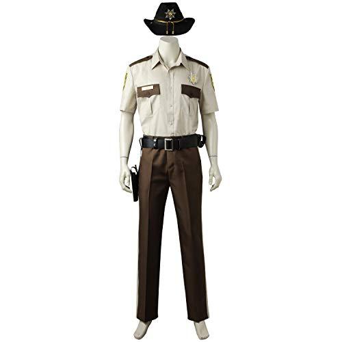 COSWORLD ウォーキング・デッド シーズン1 The Walking Dead Season1 リック・グライムズ Rick Grimes コスプレ衣装 cosplay コスチューム コス 仮装 変装 (男性XXL)