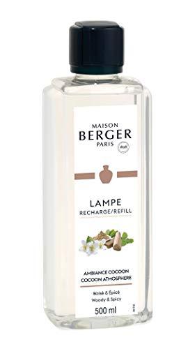 Lampe Berger - Ambientador, Recambio, Vidrio plástico, Ambiance Cocoon/Ambiente Acogedor, 500 ml