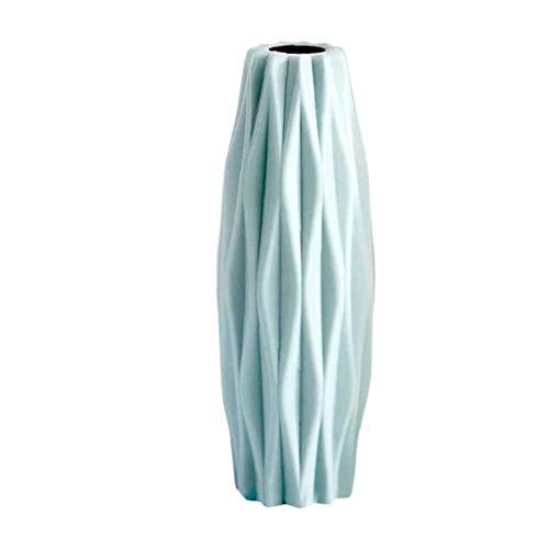 lulongyansf Keramik Nordic Imitation Blumentopf Origami Kunststoff Vase Flasche Wohnzimmer Mittelstück Home Decoration (grün) Handy Artikel