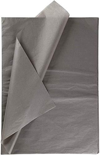 Creavvee 71821 Decoupage Seidenpapier 50x70 cm, Grau 25 Blatt, 50 x 70 cm