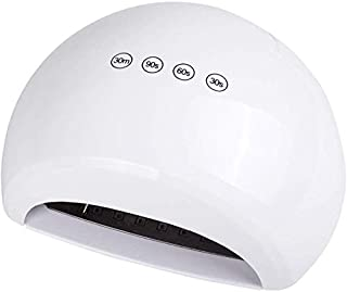 Nfudishpu Secador de uñas UV LED, Ajuste de Velocidad múltiple 48 lámpara LED Secador de Pulido de Esmalte ecológico de bajo Consumo para Uso Personal/Profesional