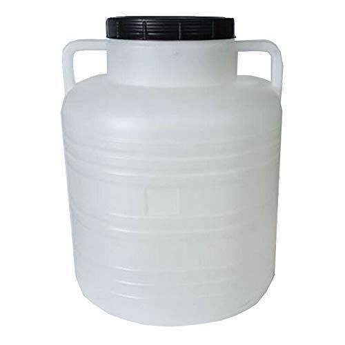 Weithalsfass 30 Liter weiss Schraubdeckelfass Mostfass Wasser Saft Federweiser Griffhenkel Kunststoff Plastik Fass