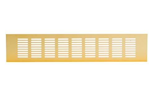 400 x 80 mm/15 x 3 tum färg guld köksbänkskiva/sockel värmeventil grill aluminium