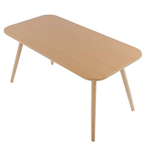 AYNEFY Mesa de comedor rectangular simple, mesa de comedor moderna, mesa de café de madera, mesa de cocina, 100 x 50 x 48,5 cm