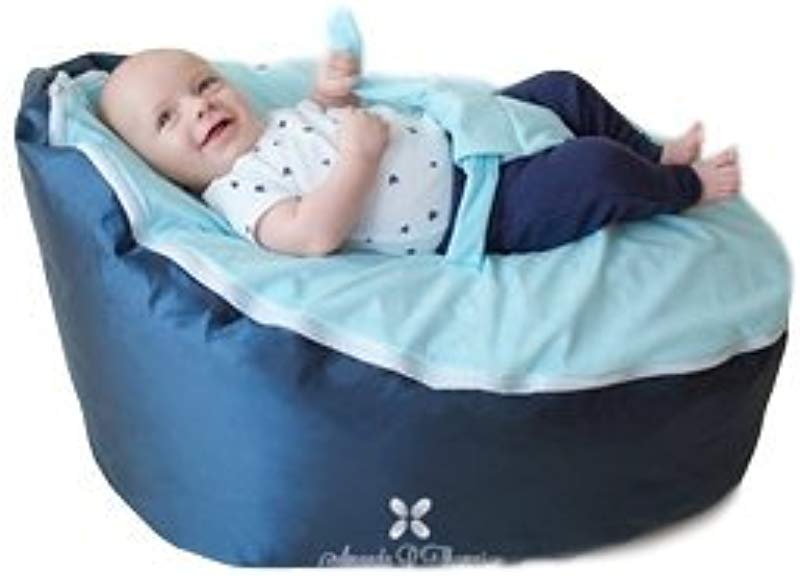 BayB Brand Baby Bean Bag Filled Blue