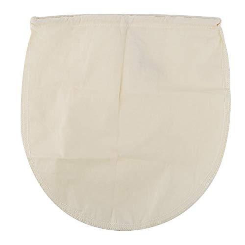 Voedselfilterzak, herbruikbare voedselzeef, 80 micron herbruikbare nylon voedselzeeffilterzak, veilig en niet-giftig, geschikt voor losse thee, koffie, kruiden(1 * Cotton Food Filter Bag)