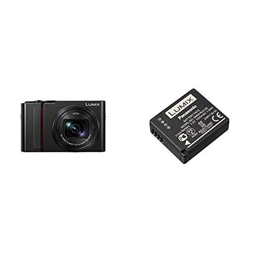 "Panasonic LUMIX DC-TZ200EG-K Fotocamera Compatta 20 MP, Sensore da 1"", 4K Photo e 4K Video, Nero & DMW BLG10 camera/camcorder battery Ioni di Litio 1025 mAh"