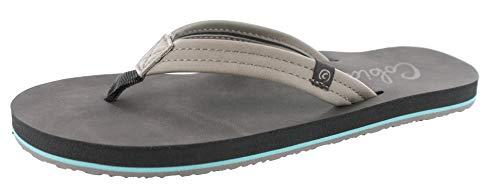 Cobian Women's Pacifica Charcoal Flip Flops, 6