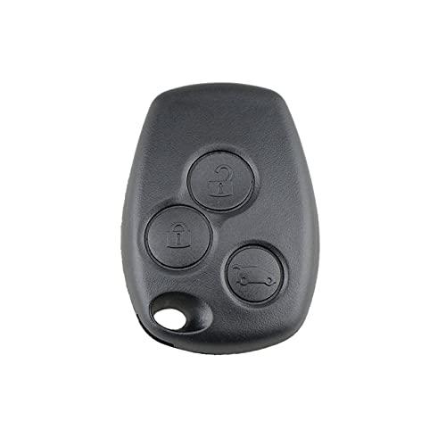 Ashley GAO Carcasa de llave remota de 3 botones sin hoja para Renault Logan Sandero Clio Fluence Vivaro Master Traffic