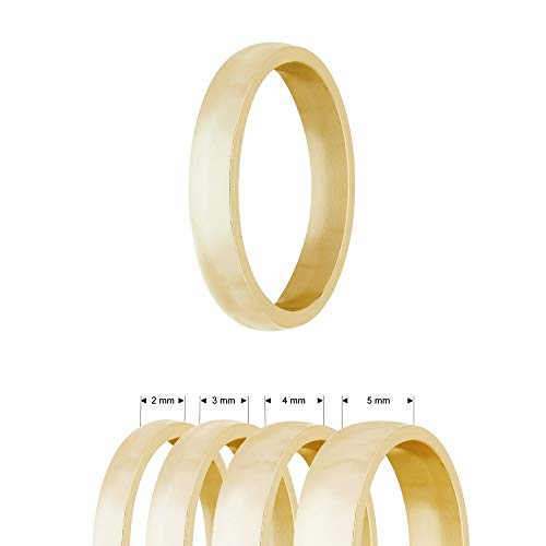 Ring - Edelstahl - 4 Breiten - Matt - Gold [17.] - Breite: 3mm - Ringgröße: 53