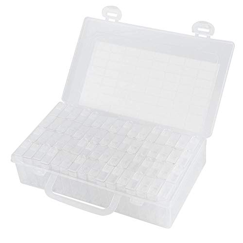 【𝐕𝐞𝐧𝐭𝐚 𝐑𝐞𝐠𝐚𝐥𝐨 𝐏𝐫𝐢𝐦𝐚𝒗𝐞𝐫𝐚】 Organizador de Bordado Ligero, Caja de Pintura de Diamantes de plástico de 64 Ranuras, para Costura de Bricolaje