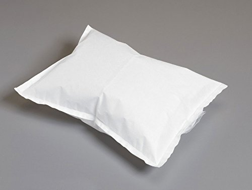 """Graham Medical 50349 Flex Air Nonwoven Poly Pillow, White, 14.5"""" Width, 10.5"""" Length (Pack of 50)"""
