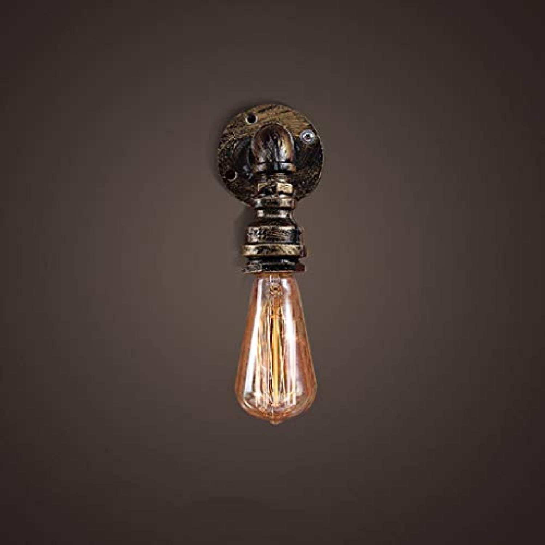 WENYAO Wasserleitungen Wandleuchte, Retro Loft Bar Cafe Schlafzimmer Nachttischlampe Einzelkopf E27 Korridor Ganglichter, 9  15 cm Bronze Mode (gre  9  15 cm)
