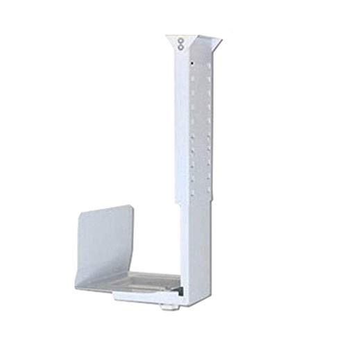 CPU Stand Adjustable Under Desk PC Stand CPU Stand Hanger Metal Chassis Bracket Hanging Chassis Base Bracket Cooling Storage Tray Shelves PC Tower Holder Cart (Color : White)