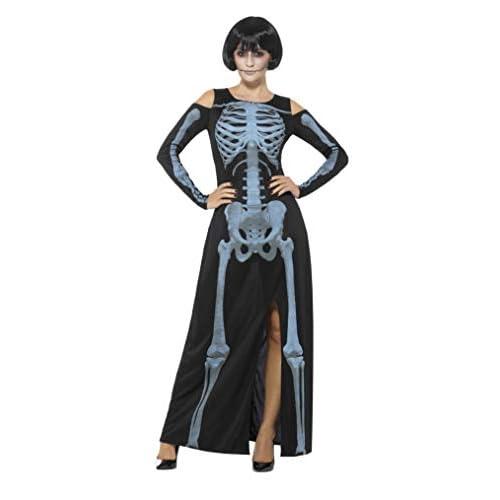 SMIFFYS Costume scheletro raggi X, Nero, con vestito