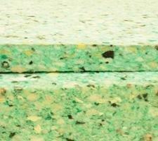 Planchas de aglomerado para insonorización y aislamiento acústico. Grosor: 3 cm.