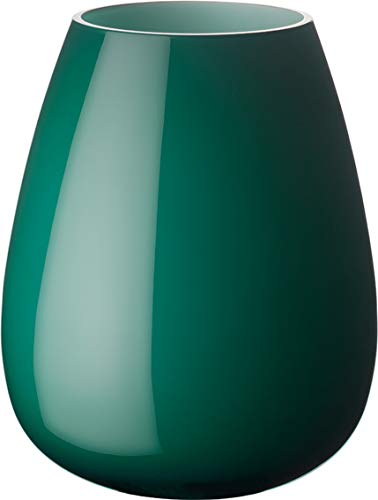 Villeroy & Boch Drop vaas Emerald Green, 18,6 cm, glas, groen